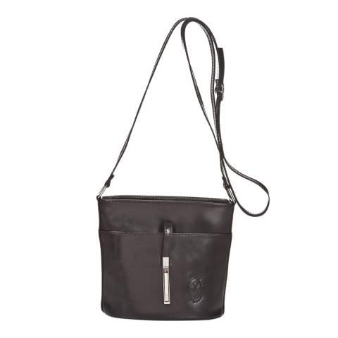 Markese Black Leather Shoulder Bag