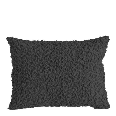 Gallery Charcoal Cotton Boucle Cushion 40x60cm