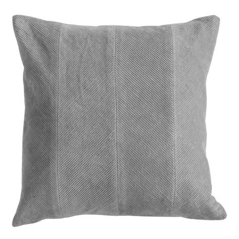 Gallery Grey Corduroy Velvet Cushion 45x45cm