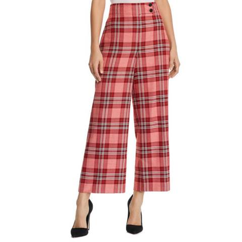 WHISTLES Red Check Cara Trousers