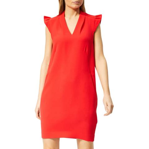 WHISTLES Red Safia Crepe Dress