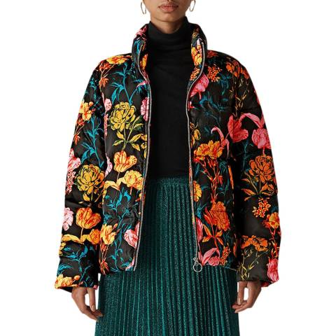 WHISTLES Multi Floral Printed Puffer