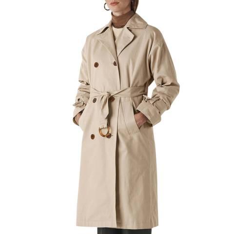 WHISTLES Beige Paula Trench Coat