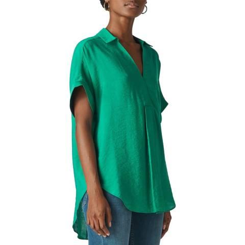 WHISTLES Green Lea Shirt