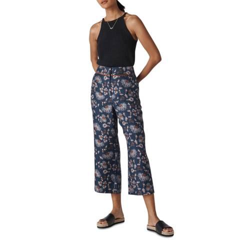 WHISTLES Multi Pitti Silk Twill Trousers