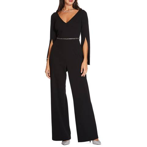 Adrianna Papell LONG CREPE JUMPSUIT