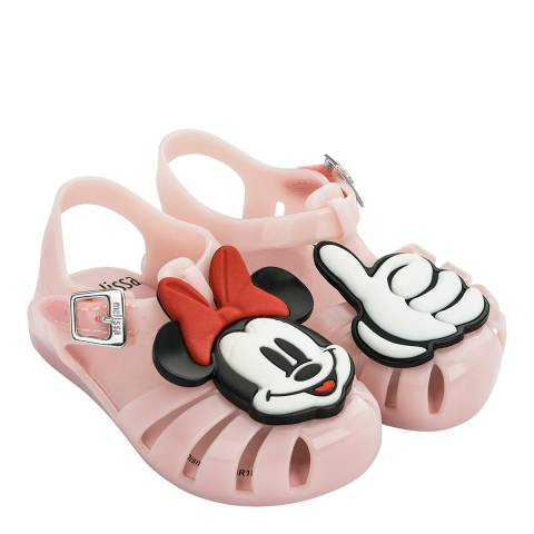 Mini Melissa Baby Pink Minnie Mini Aranha Disney Fun Sandals
