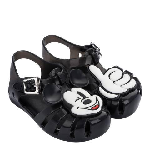 Mini Melissa Black Mickey Mini Aranha Disney Fun Sandals