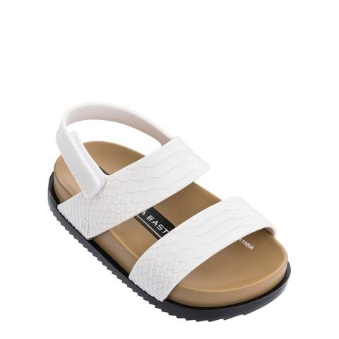 Mini Melissa White/Black Mini Melissa Cosmic Sandal