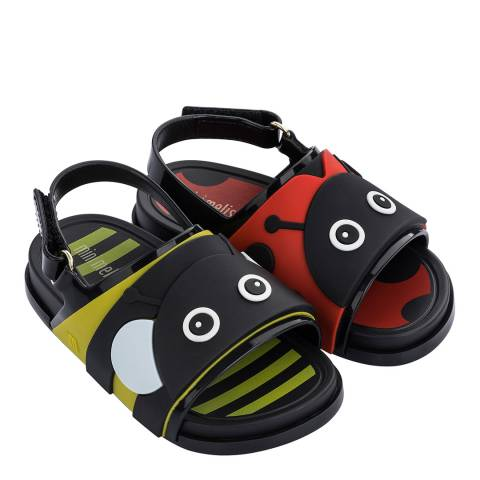 Mini Melissa Bumble Ladybird Mini Beach Slides