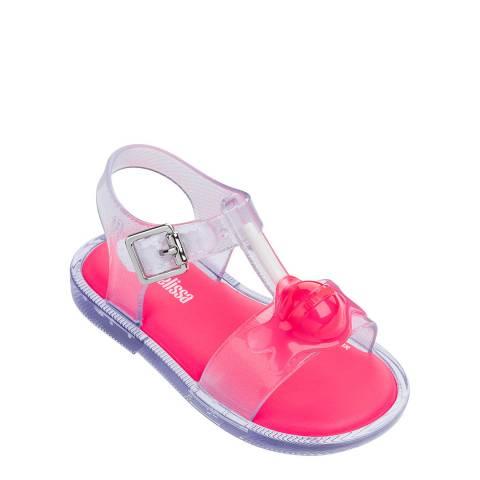 Mini Melissa Clear Contrast Mini Mar Lollypop Sandals