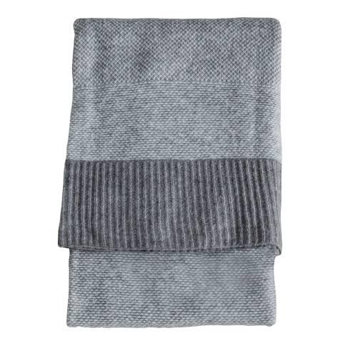 Gallery Grey Knitted 2 Tone Throw 130x170cm