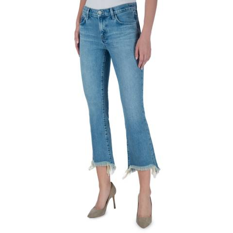 J Brand Mid Blue Selena Mid Rise Crop Boot Jeans