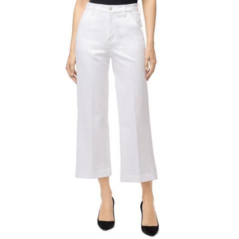 J Brand White Crop Joan Cotton Jeans