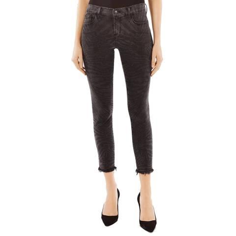 J Brand Black Tiger 835 Crop Skinny Stretch Jeans