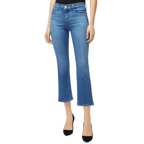 J Brand True Blue Selena Crop Boot Stretch Jeans