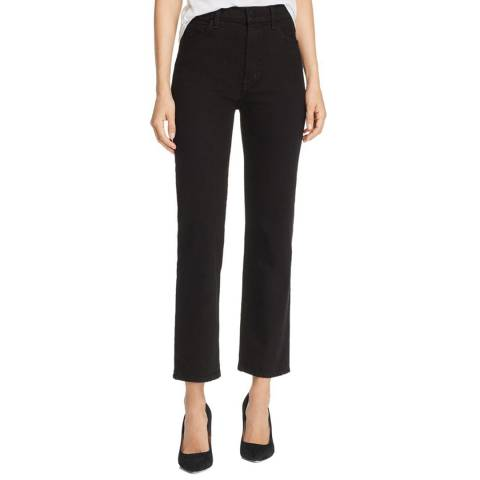J Brand Black Jules High Rise Straight Jeans