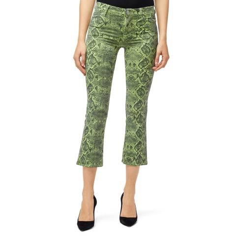 J Brand Green Selena Crop Boot Stretch Jeans
