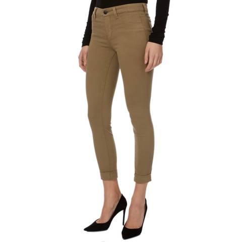 J Brand Camel Anja Cuffed Crop Jeans