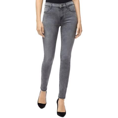 J Brand Grey Maria High Rise Skinny Stretch Jeans