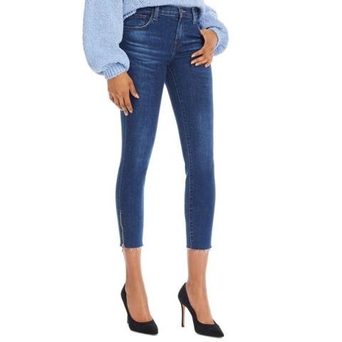 J Brand Mid Blue 835 Crop Skinny Stretch Jeans