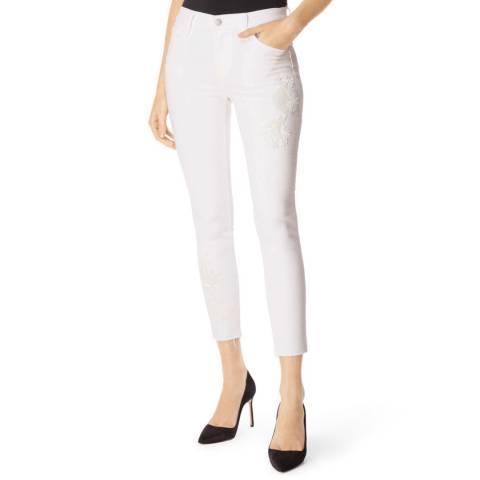 J Brand White 835 Crop Skinny Stretch Jeans