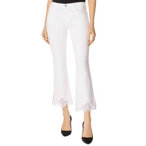 J Brand White Selena Crop Boot Stretch Jeans
