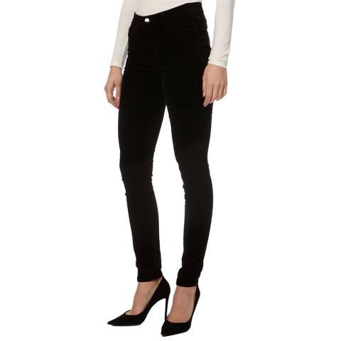 J Brand Black Maria High Rise Skinny Jeans