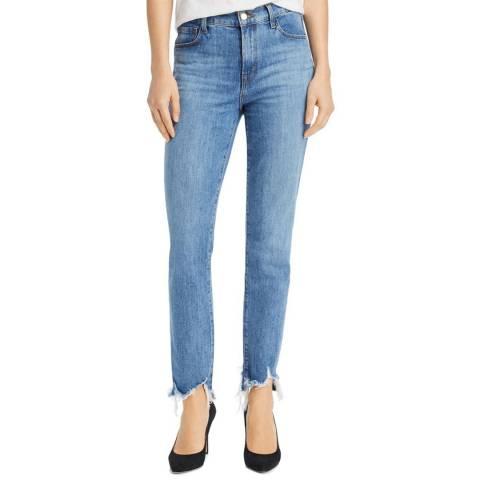 J Brand Light Blue Ruby Crop Cigarette Stretch Jeans