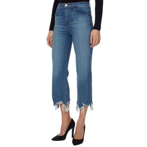 J Brand Mid Blue Joan Crop Stretch Jeans
