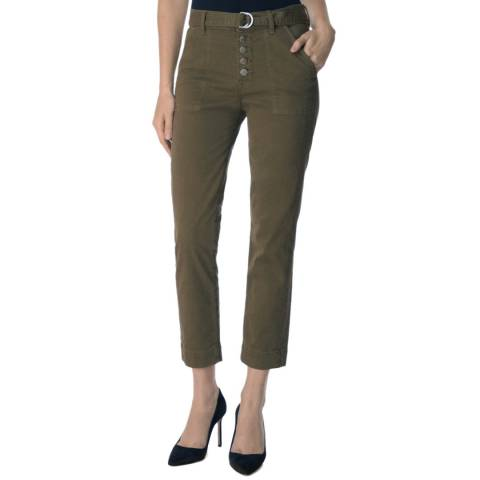 J Brand Khaki Kyrah High Rise Jeans