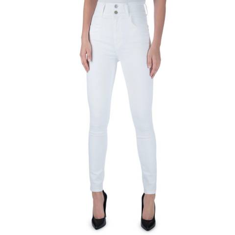 J Brand White Elsa Saturday Stretch Jeans