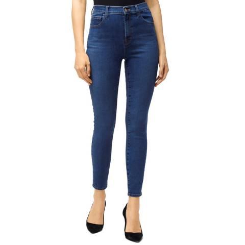 J Brand Blue Leenah Ankle Skinny Stretch Jeans