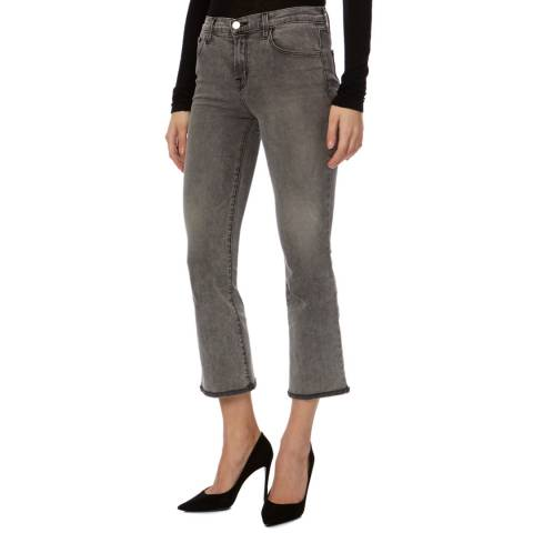 J Brand Grey Selena Crop Boot Cotton Jeans