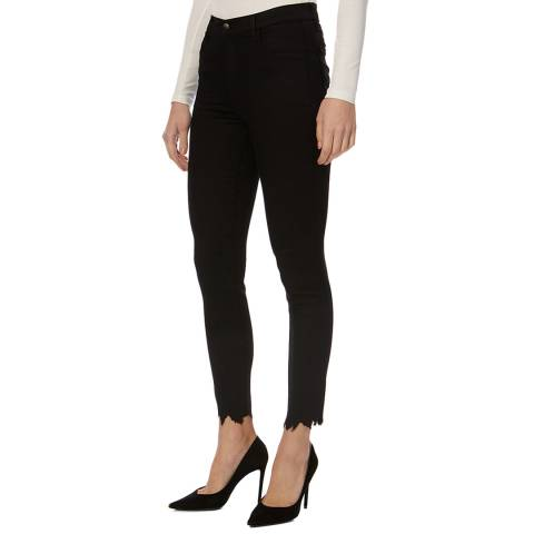 J Brand Black Alana Crop Skinny Stretch Jeans