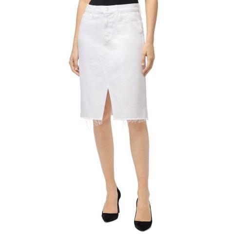 J Brand White Trystan Cotton Stretch Skirt