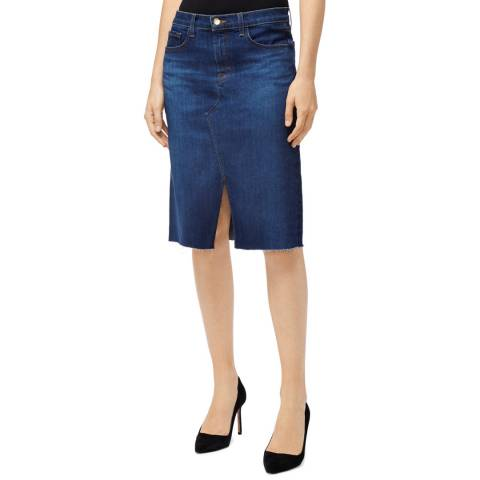 J Brand Indigo Trystan Cotton Stretch Skirt