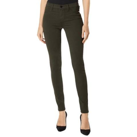J Brand Khaki Alana High Rise Crop Skinny Jeans