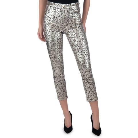 J Brand Gold Ruby Crop Cigarette Stretch Jeans