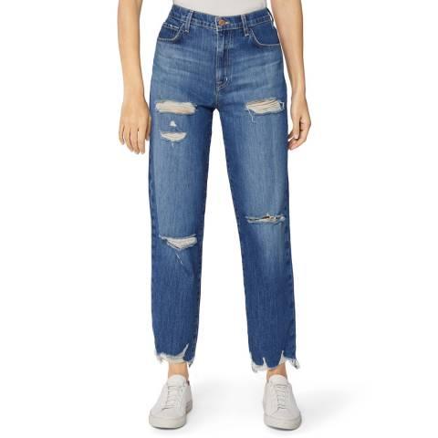 J Brand Blue Jules High Rise Straight Stretch Jeans