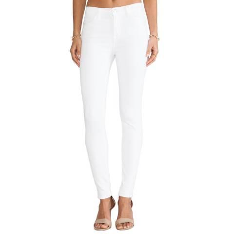 J Brand White Maria High Rise Skinny Stretch Jeans