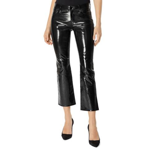 J Brand Patent Black Selena Cropped Leather Jeans
