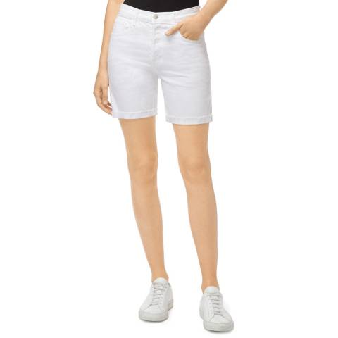 J Brand White Billey Shorts