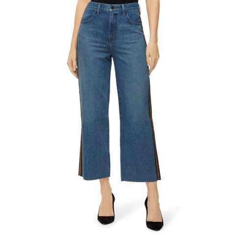 J Brand Blue Joan Crop Stripe Stretch Jeans