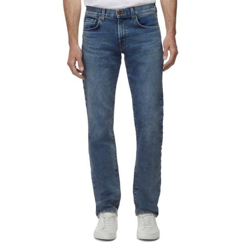 J Brand Mid Blue Kane Straight Stretch Jeans