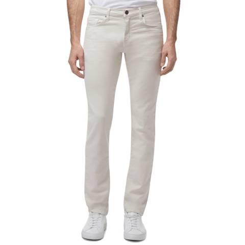 J Brand Off White Kane Straight Stretch Jeans