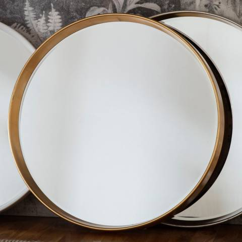 Gallery Gold Harvey Round Mirror 95x95cm