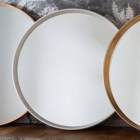 Gallery White Harvey Round Mirror 95x95cm