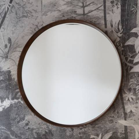 Gallery Walnut Keaton Round Mirror 100x100cm