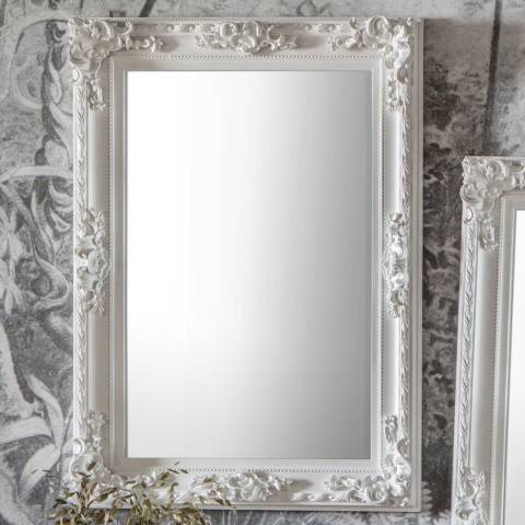 Gallery White Altori Rectangle Mirror 114x83cm